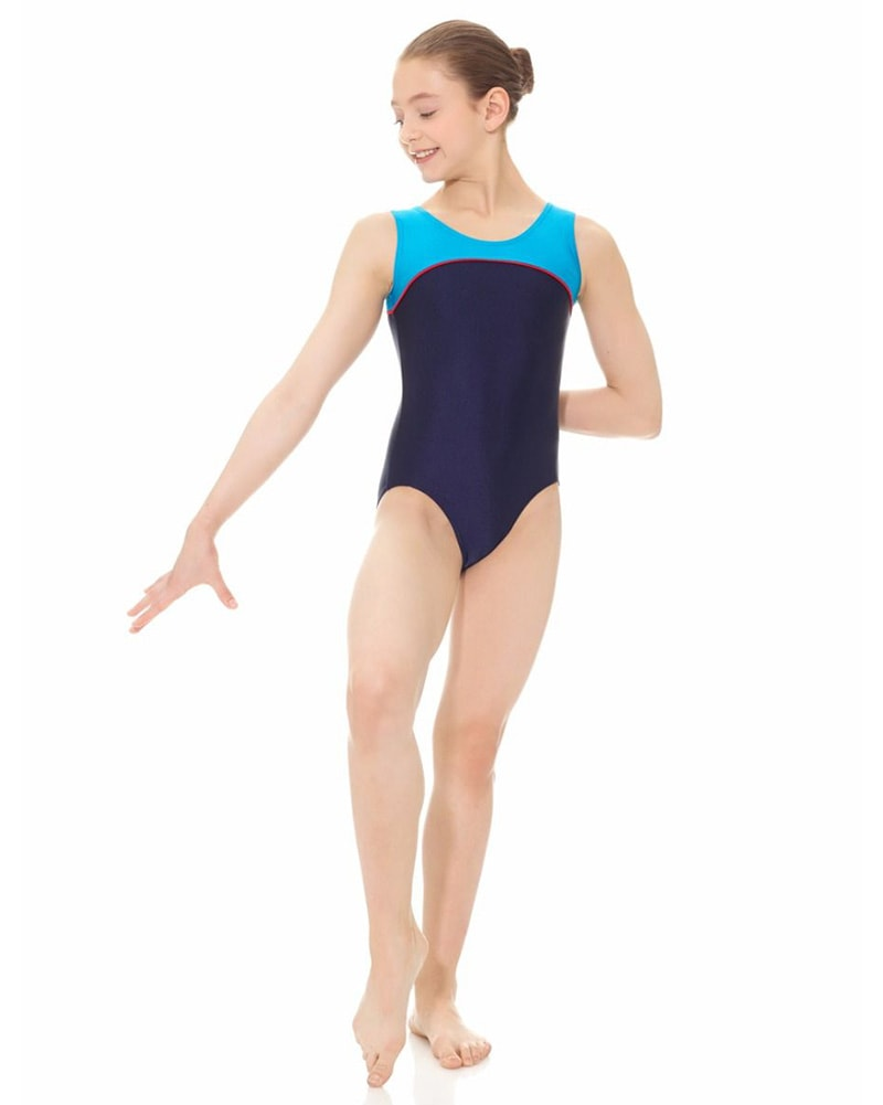 Mondor Neon Toned Gymnastic Tank Leotard - 7835C Girls - Multi Colour - Dancewear - Gymnastics - Dancewear Centre Canada