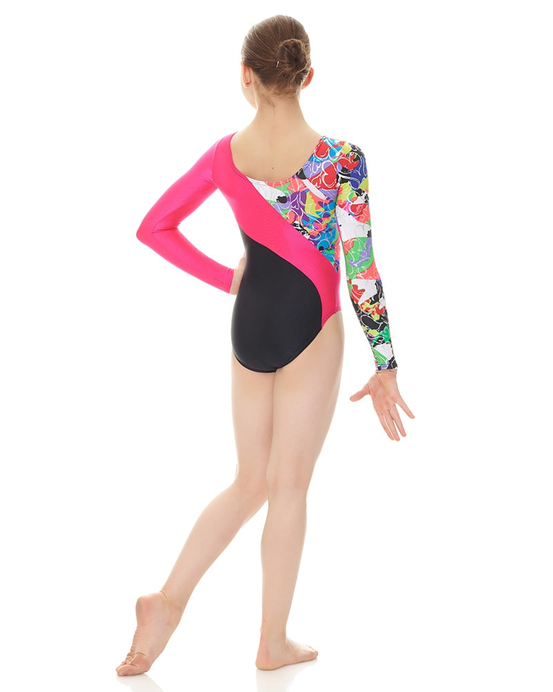 541db18c96d4 Mondor 7887C - Combination Print Gymnastic Long Sleeve Leotard Girls -  Dancewear - Gymnastics - Dancewear