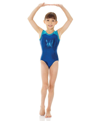 Mondor Metallic Toned Gymnastic Tank Leotard - 7891C Girls - Multi Colour - Dancewear - Gymnastics - Dancewear Centre Canada