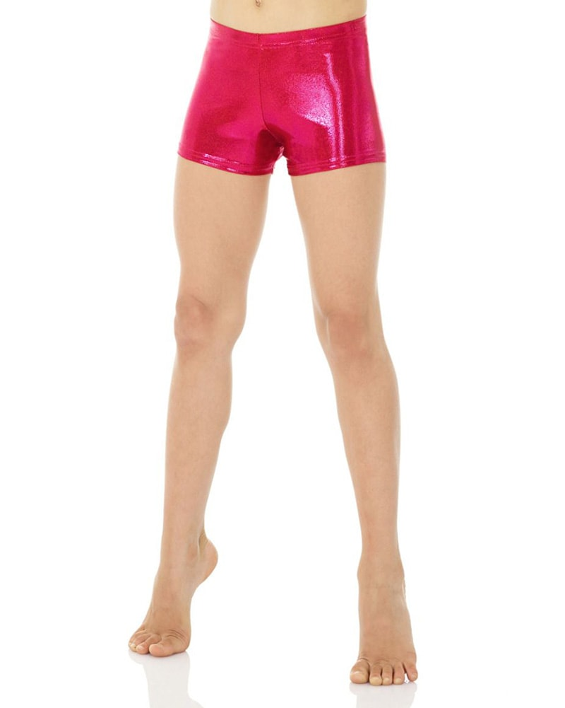 Mondor Metallic Gymnastic Shorts - 7825C-7895C Girls - Dancewear - Bottoms - Dancewear Centre Canada