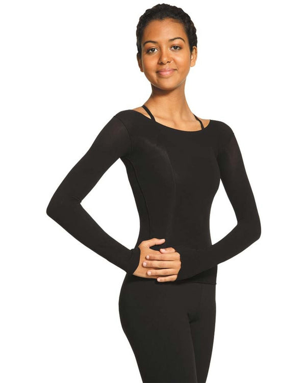 Mondor 816 - Body Pop Sheer Long Sleeve Dance Top  Womens - Dancewear - Tops - Dancewear Centre Canada