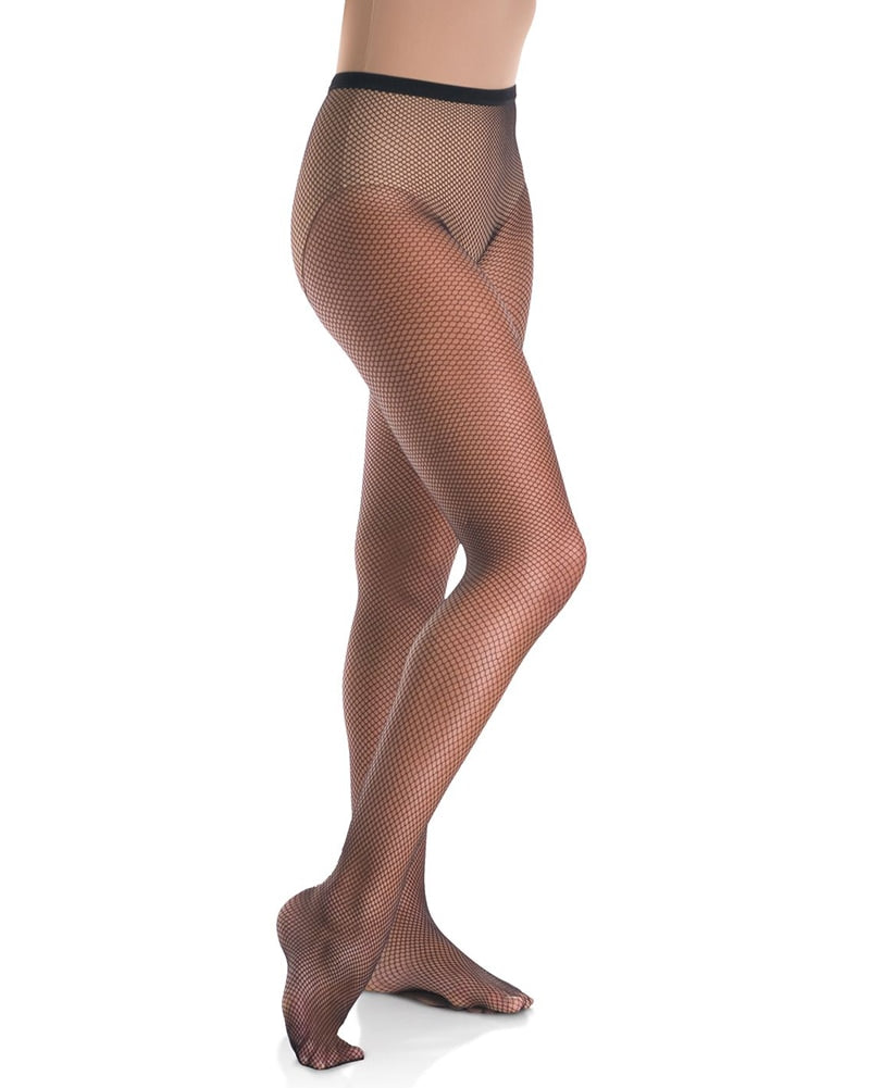 Mondor Lightweight Footed Fishnet Dance Tights - 320 Girls