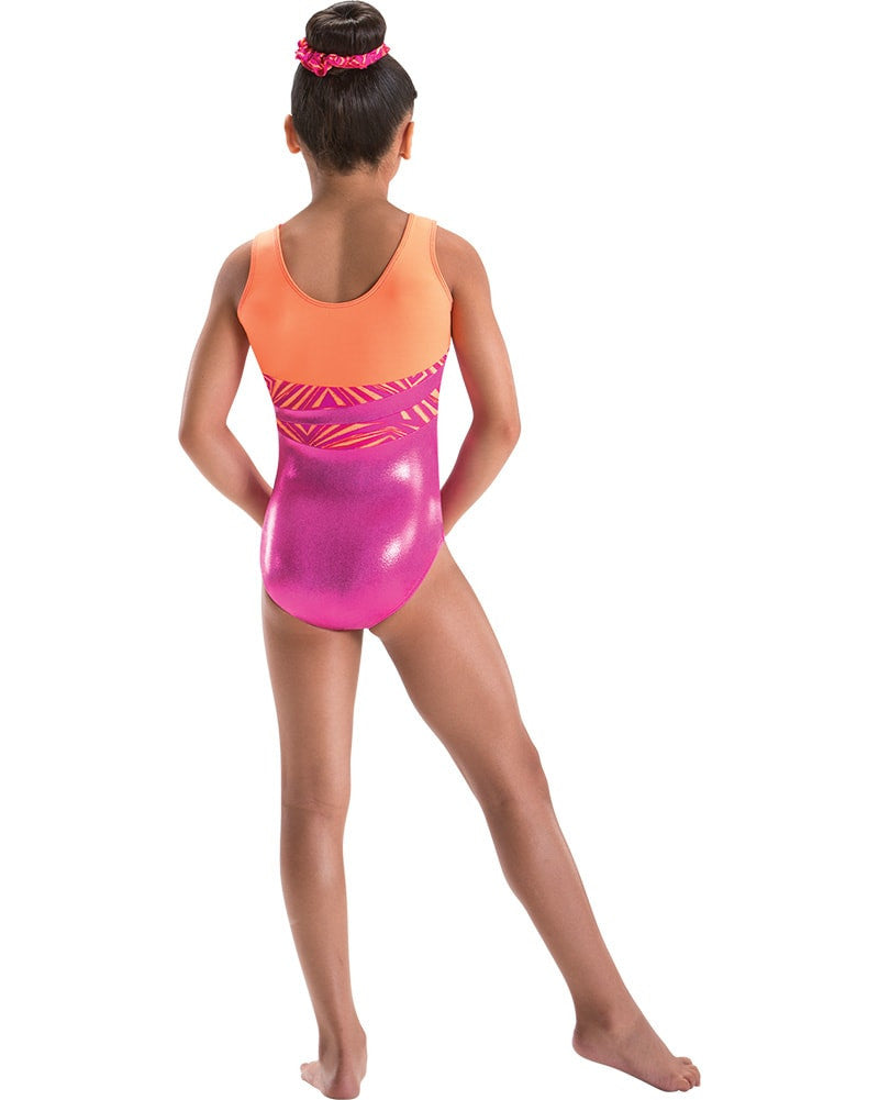 Motionwear Holographic Foil Wave Gymnastic Tank Leotard - 1285 Girls - Dancewear - Gymnastics - Dancewear Centre Canada