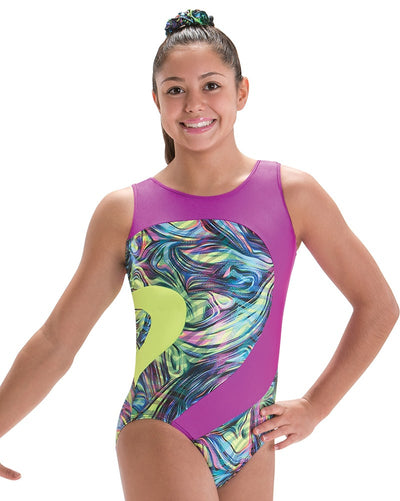 Motionwear Eclipse Toned Open Back Gymnastic Tank Leotard - 1654CD Girls - Dancewear - Gymnastics - Dancewear Centre Canada