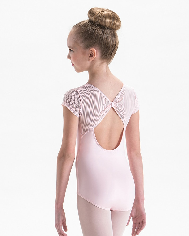 Motionwear Gathered Mesh Keyhole Back Silkskyn Short Sleeve Leotard - 2742C Girls - Dancewear - Bodysuits & Leotards - Dancewear Centre Canada