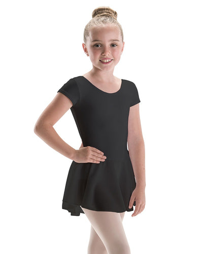 Motionwear Classic Cut Bow Back Silkskyn Short Sleeve Ballet Dress - 4370C Girls - Dancewear - Dresses - Dancewear Centre Canada