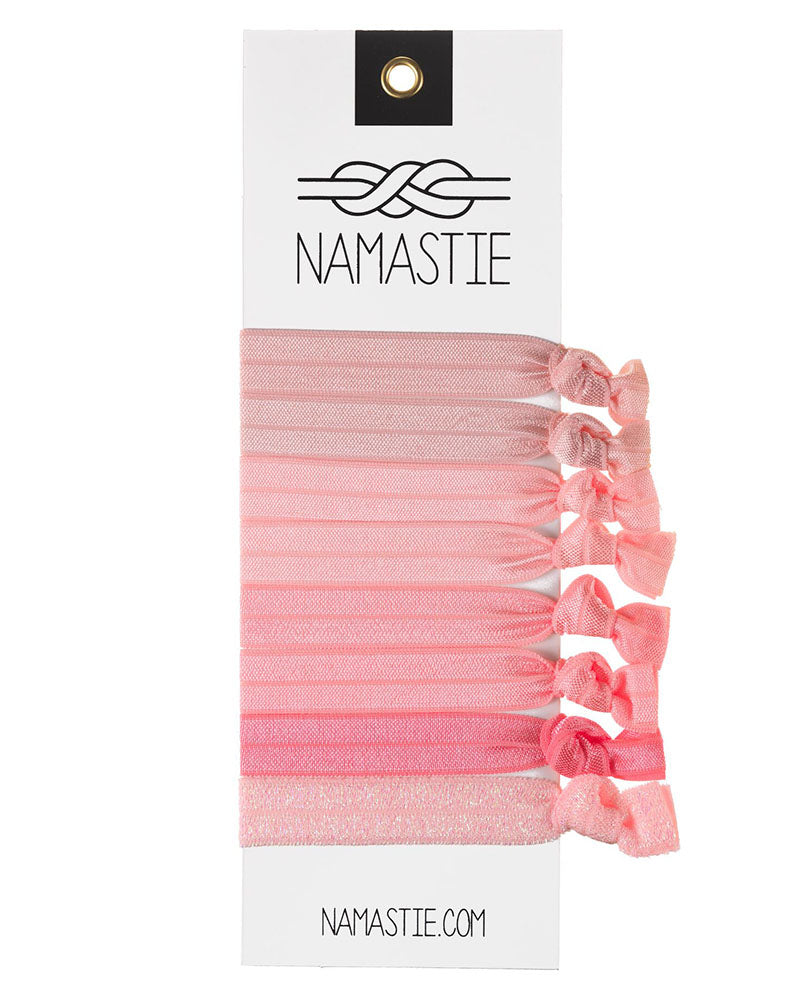 Namastie Yogi Hair Tie 8 Pack - Pink Lady - Accessories - Hair Care - Dancewear Centre Canada