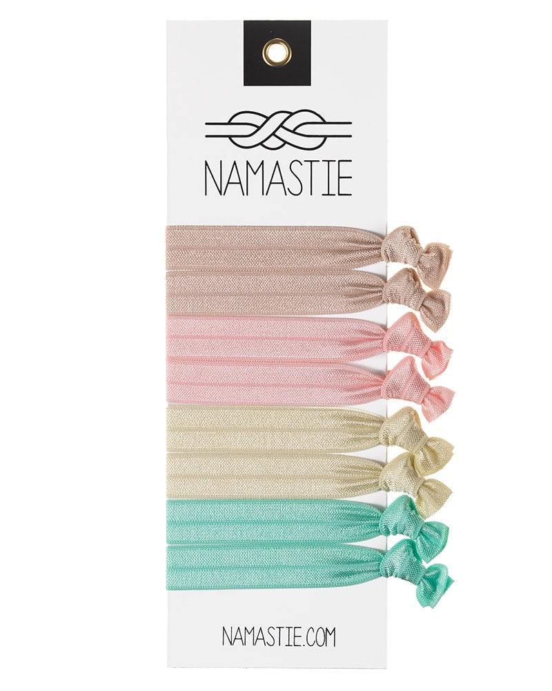 Namastie Yogi Hair Tie 8 Pack - Mademoiselle - Accessories - Hair Care - Dancewear Centre Canada