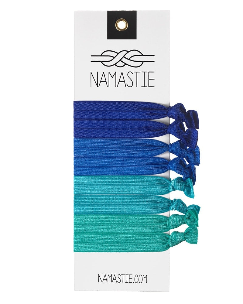 Namastie Yogi Hair Tie 8 Pack - Oceanlover Blue - Accessories - Hair Care - Dancewear Centre Canada