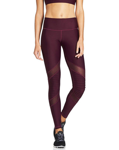 Nimble Moto Mesh Full Length Legging - Womens - Plum - Activewear - Bottoms - Dancewear Centre Canada