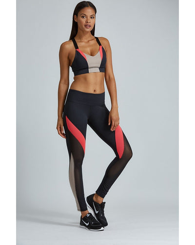 Noli Jordyn Legging - Womens - Red/Black - Activewear - Bottoms - Dancewear Centre Canada