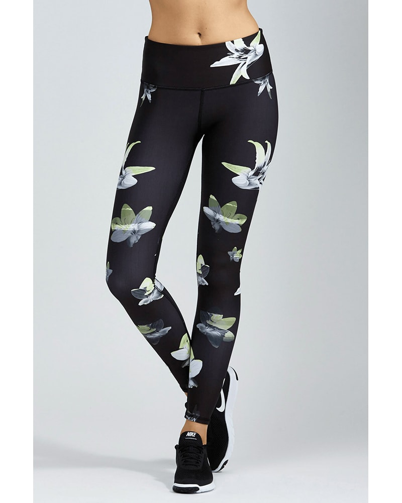 Noli Full Length Legging - Womens - Lilly Print - Activewear - Bottoms - Dancewear Centre Canada