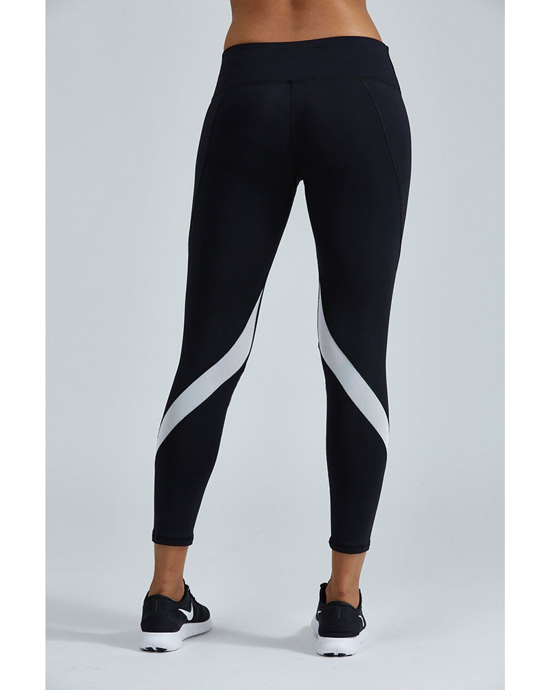 Noli Zoe Contrast Legging - Womens - Black/Silver - Activewear - Bottoms - Dancewear Centre Canada