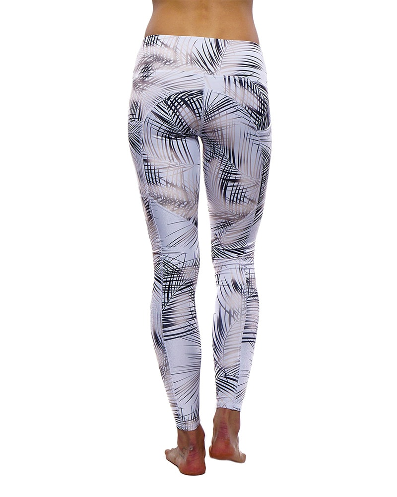 Nux Active Carry On Legging - Womens - Palm Print - Activewear - Bottoms - Dancewear Centre Canada