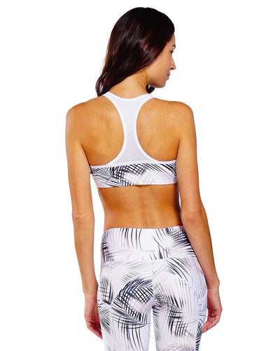 Nux Active Leah Bra - Womens - Palm Print - Activewear - Tops - Dancewear Centre Canada