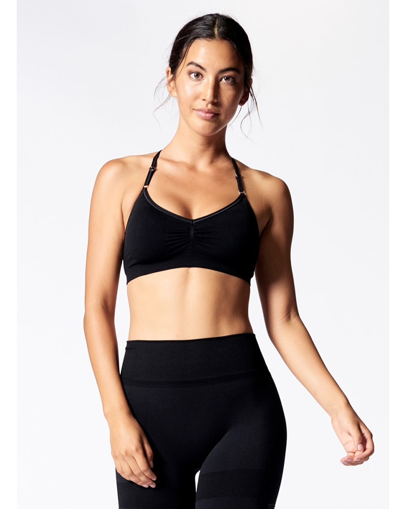 cb8134682c Nux Active B987 - Skinny Sports Bra Black Womens - Activewear - Tops -  Dancewear Centre
