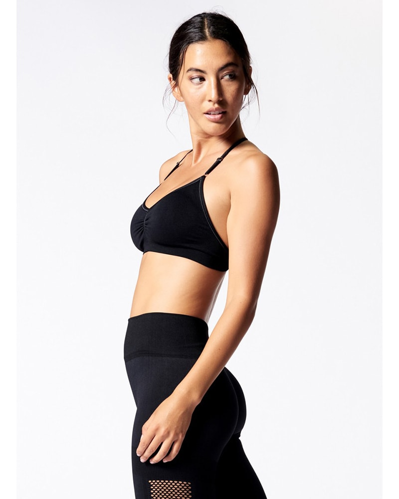 Nux Active Skinny Sports Bra - B987 Womens - Black - Activewear - Tops - Dancewear Centre Canada