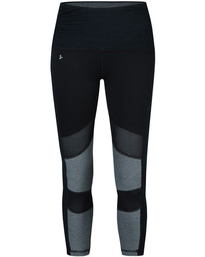 Nux Active Reversible Kent Capri Legging - P3013R Womens - Black Ink/Heather Grey - Activewear - Bottoms - Dancewear Centre Canada