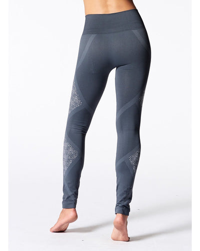 Nux Active Geneva Leggings - P4024 Womens - Charcoal Print - Activewear - Bottoms - Dancewear Centre Canada