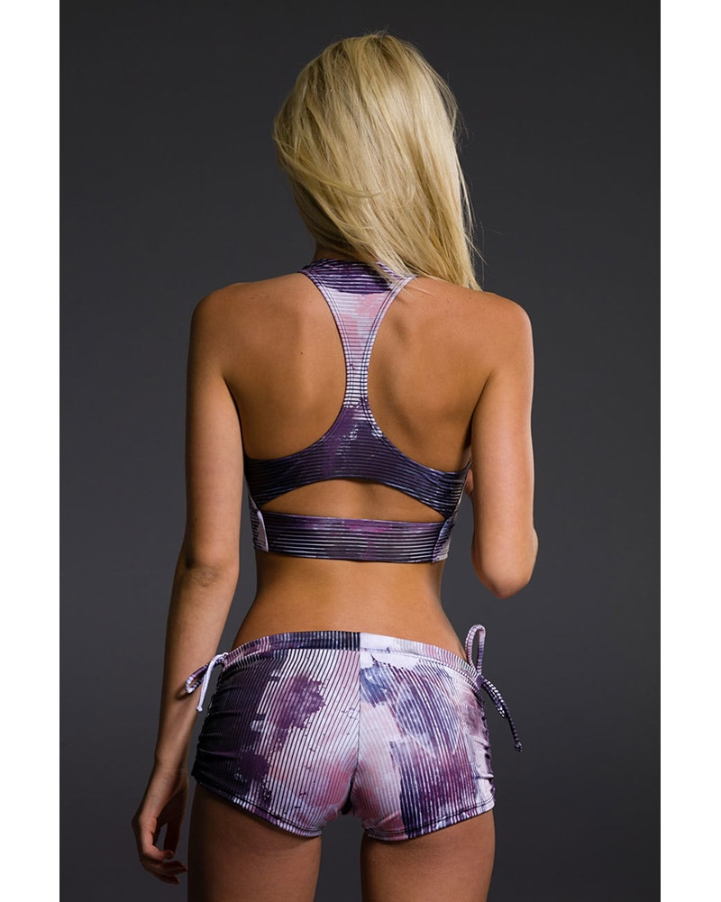 Onzie Peek-a-Boo Racer Back Bra - 3024 Womens - Abstract Print - Activewear - Tops - Dancewear Centre Canada