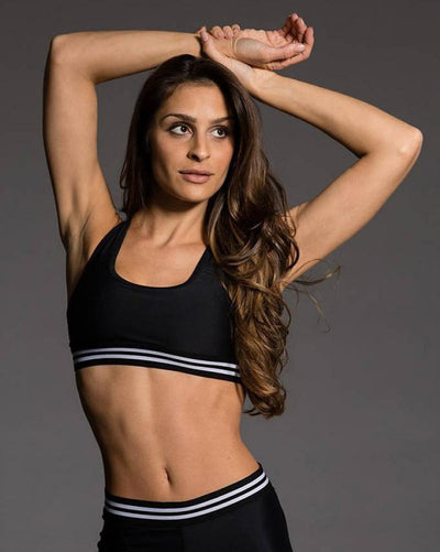 Onzie Elastic Band Bra - 8021 Girls - Black - Activewear - Tops - Dancewear Centre Canada