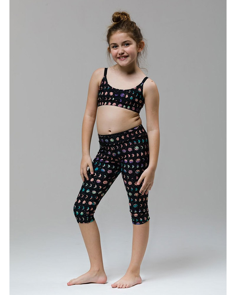 Onzie Youth Elastic Bra Top - 816 Girls - Moon Phased Print - Activewear - Tops - Dancewear Centre Canada