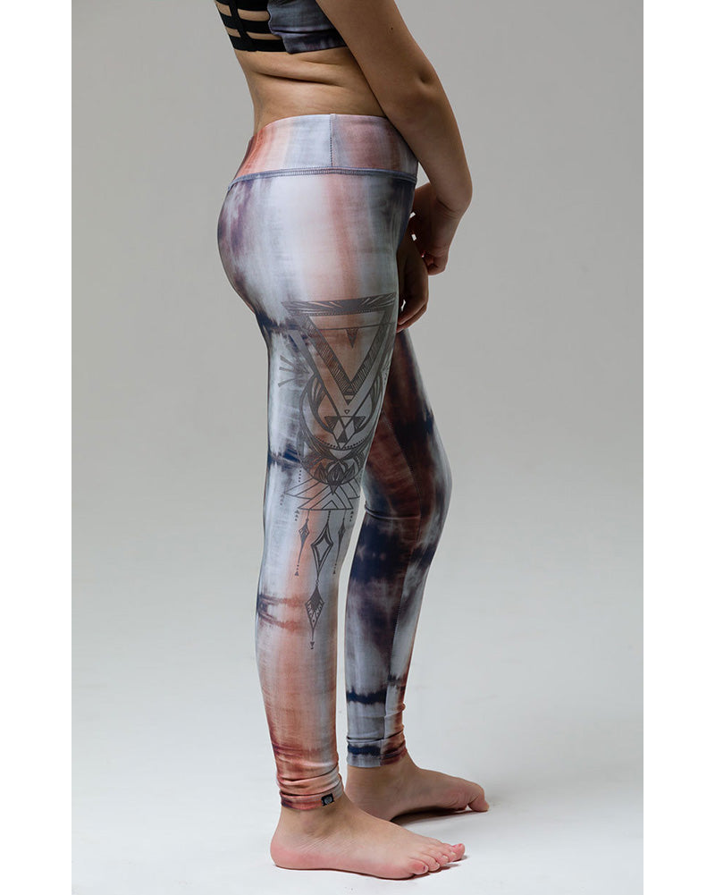 Onzie Youth Graphic Legging - 829 Girls - Mantras Print - Activewear - Bottoms - Dancewear Centre Canada