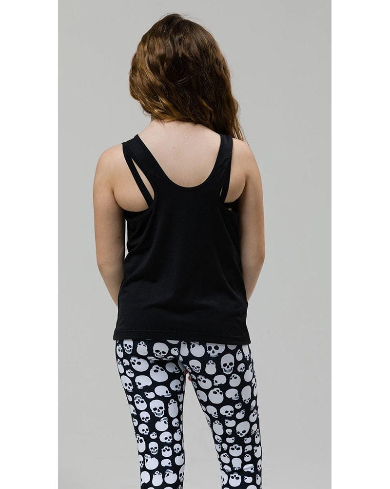 Onzie Youth Peep Tank - 851 Girls - Black