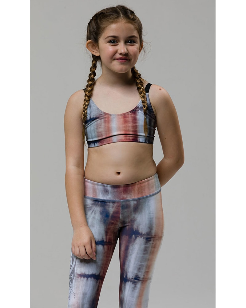 Onzie Youth Graphic Bra - 882 Girls - Mantras Print - Activewear - Tops - Dancewear Centre Canada