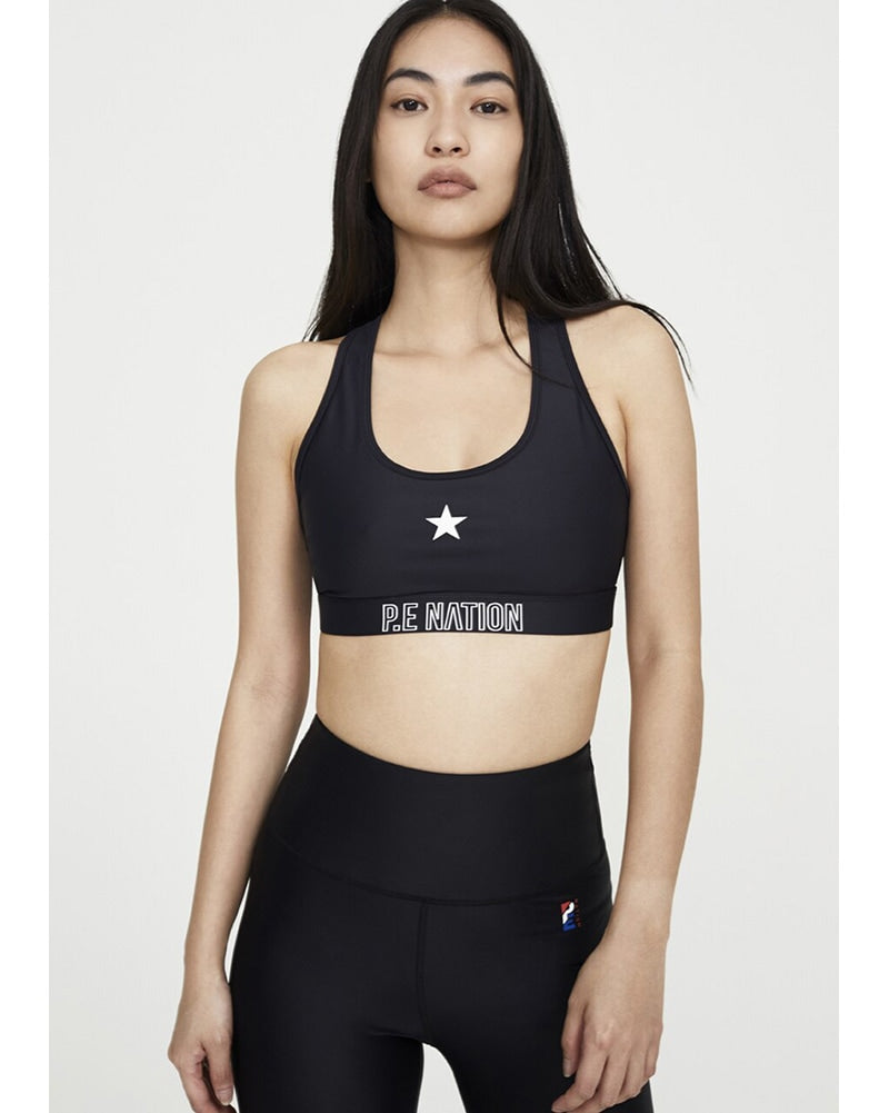 PE Nation Circuit Racer Sports Bra - Womens - Black - Activewear - Tops - Dancewear Centre Canada