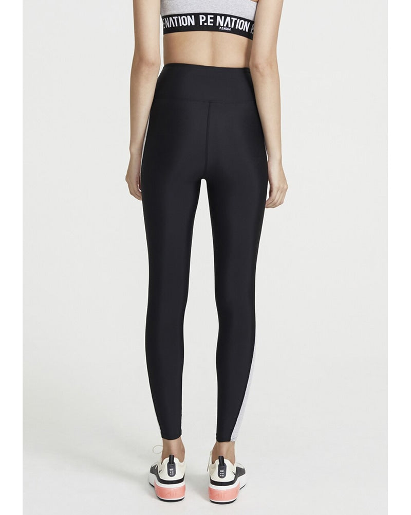 PE Nation Free Formation Legging - Womens - Grey Marl/Black - Activewear - Bottoms - Dancewear Centre Canada
