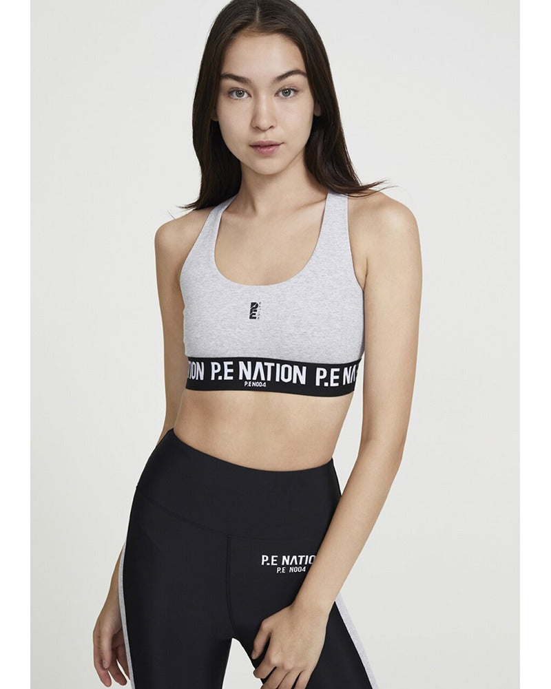 PE Nation Free Formation Sports Bra - Womens - Grey Marl - Activewear - Tops - Dancewear Centre Canada