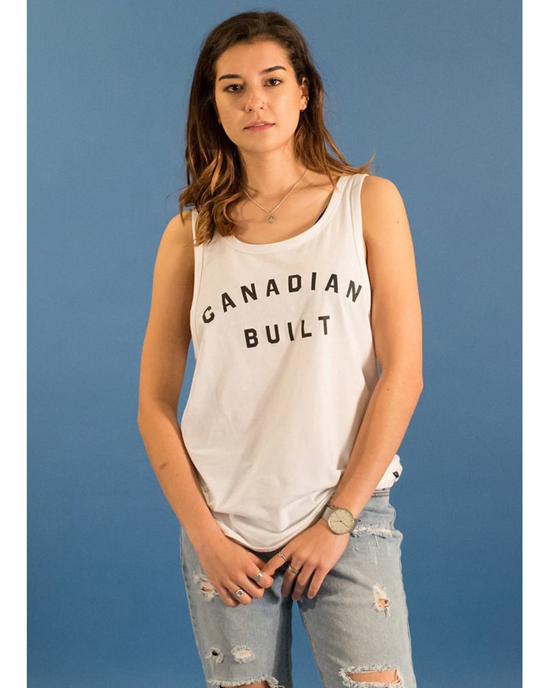 Peace Collective Canadian Built Tank Top - Womens - White - Dancewear - Tops - Dancewear Centre Canada