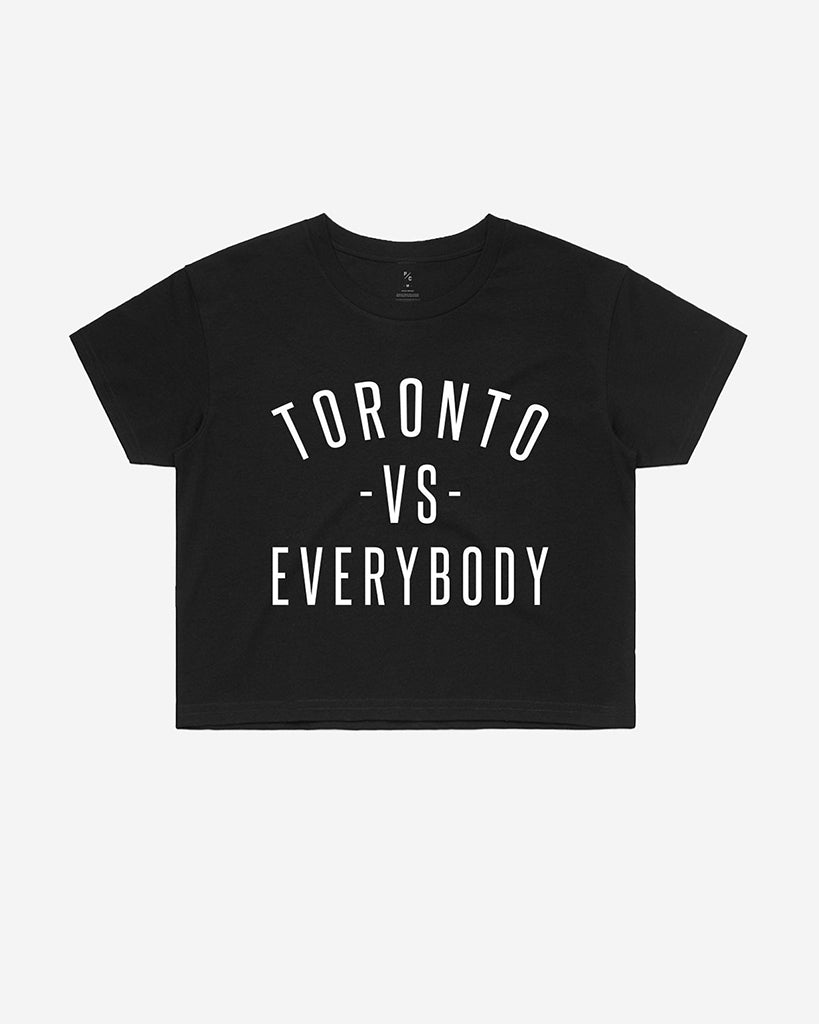 Peace Collective Toronto Vs. Everybody Cropped T-Shirt - Womens - Black - Dancewear - Tops - Dancewear Centre Canada
