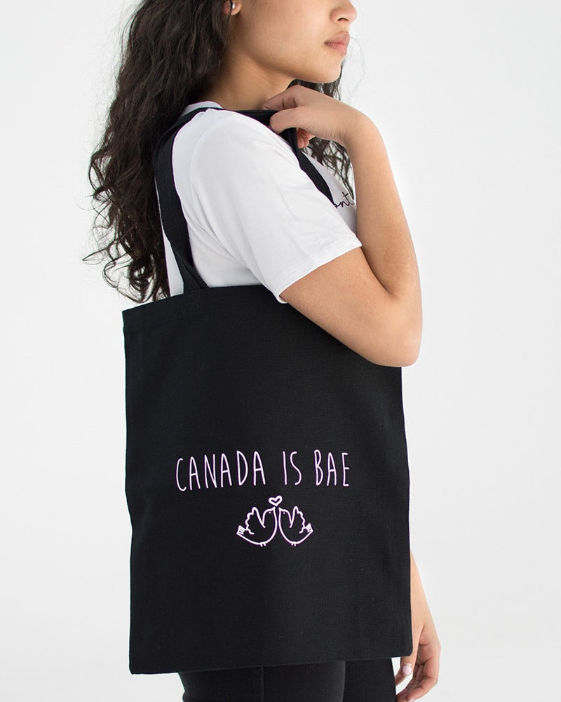 Peace Collective Canada Is Bae Tote Bag - Black - Accessories - Dance Bags - Dancewear Centre Canada
