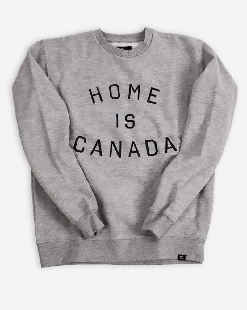 Peace Collective Home Is Canada Crewneck Sweatshirt - Womens - Grey