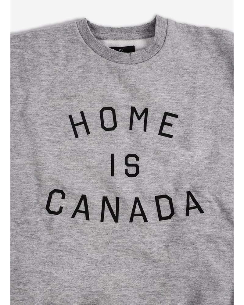 Peace Collective - Home Is Canada Crewneck Sweatshirt Womens Grey