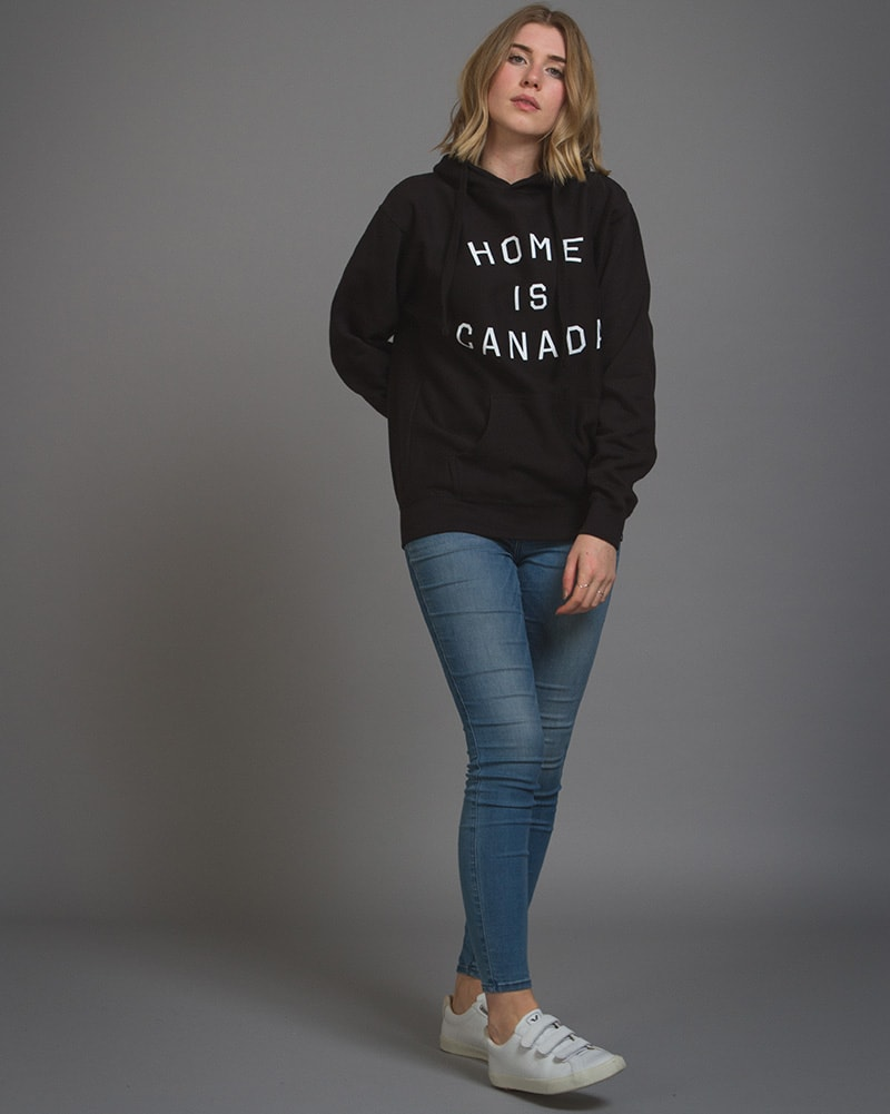 Peace Collective - Home Is Canada Hoodie Sweatshirt Black Womens