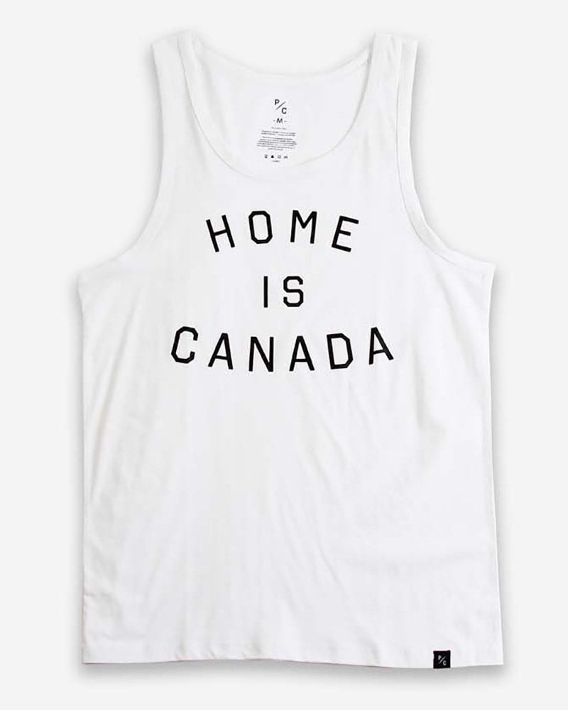 Peace Collective Home Is Canada Tank Top - Womens/Mens - White