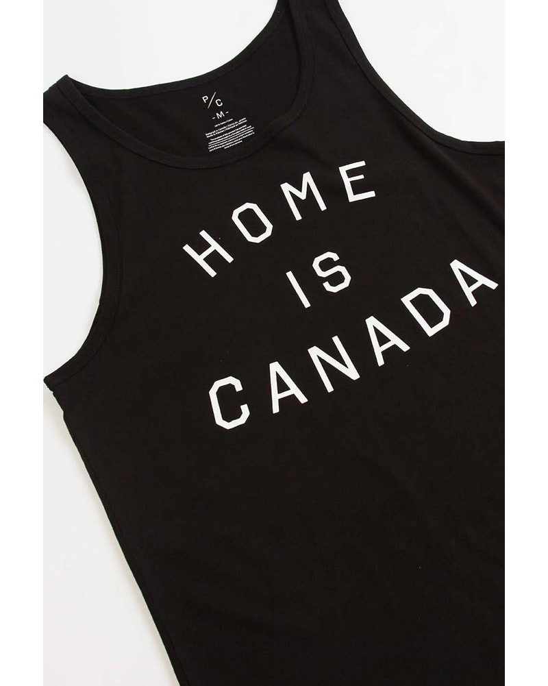 Peace Collective Home Is Canada Tank Top - Womens/Mens - Black