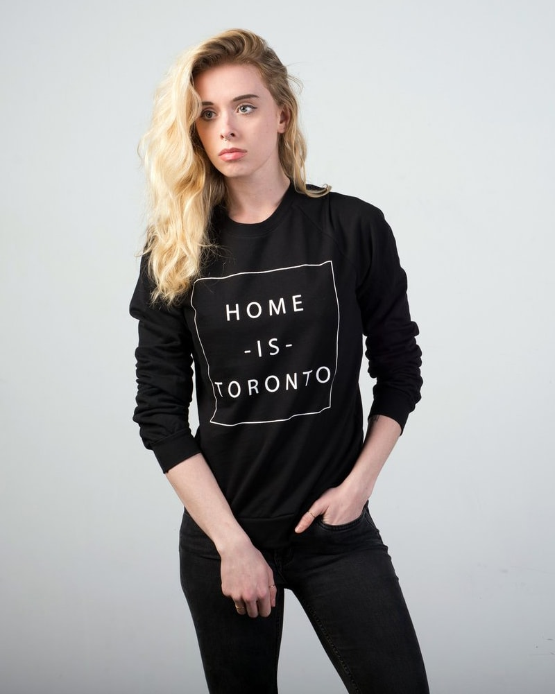 Peace Collective - Home Is Toronto Box Crewneck Sweatshirt Black Womens