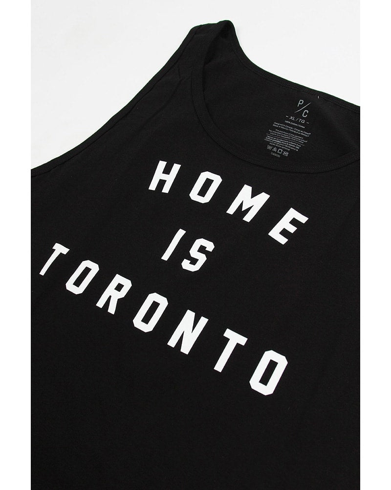 Peace Collective Home Is Toronto Varsity Tank Top - Womens/Mens - Black