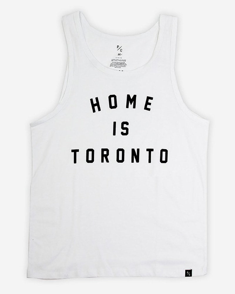 Peace Collective Home Is Toronto Varsity Tank Top - Womens/Mens - White