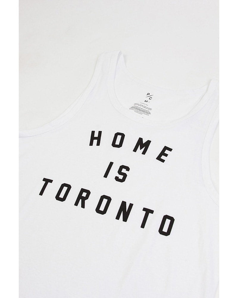 Peace Collective - Home Is Toronto Varsity Tank Top White Womens/Mens