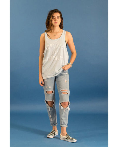 Peace Collective Toronto -vs- Everybody Tank Top - Womens - Sky Blue - Dancewear - Tops - Dancewear Centre Canada