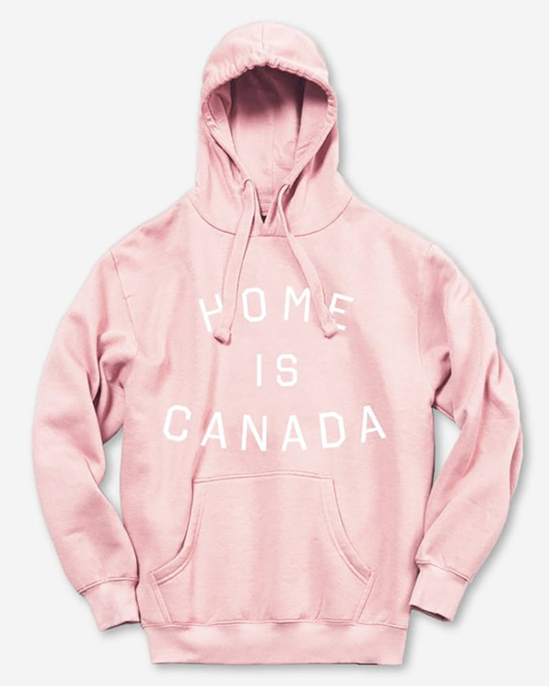 Peace Collective Home Is Canada Hoodie Sweatshirt - Womens - Pink