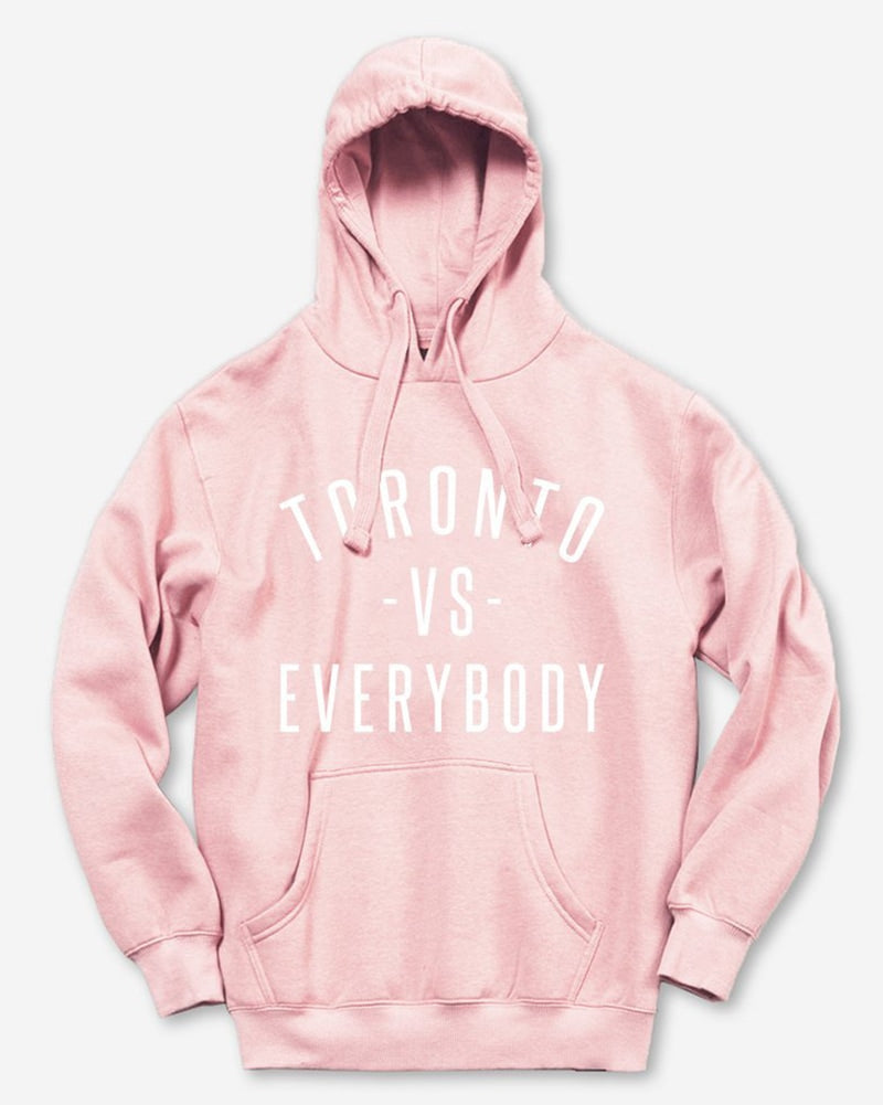 Peace Collective Toronto -vs- Everybody Hoodie Sweatshirt - Womens - Pink