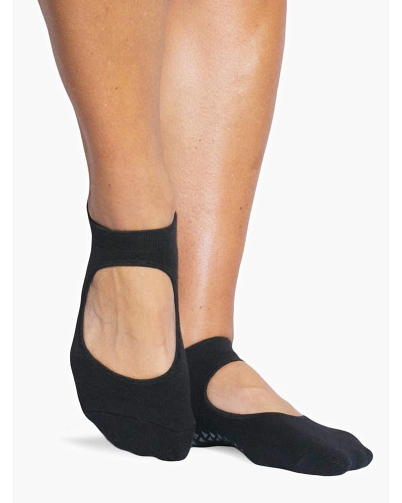 Pointe Studio Josie Grip Strap Sock - Womens - Black - Dancewear - Socks - Dancewear Centre Canada
