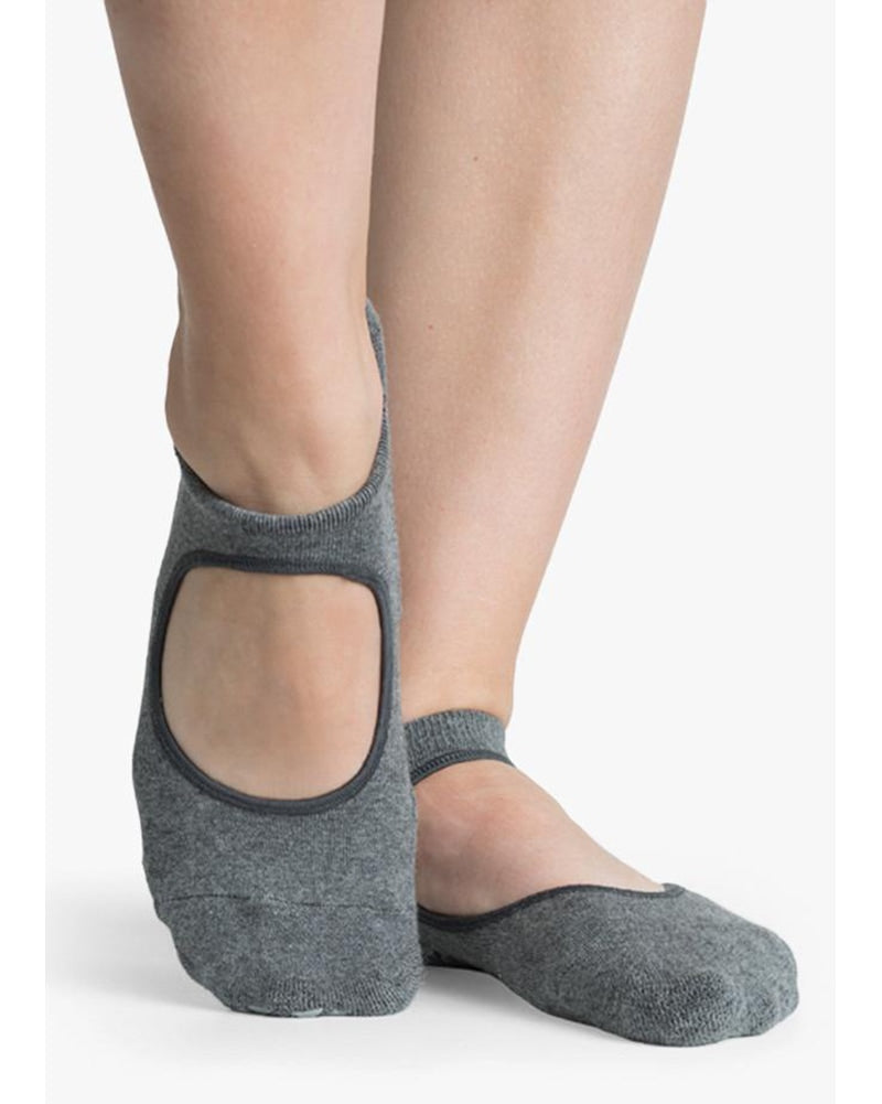 Pointe Studio Josie Grip Strap Sock - Womens - Charcoal - Dancewear - Socks - Dancewear Centre Canada