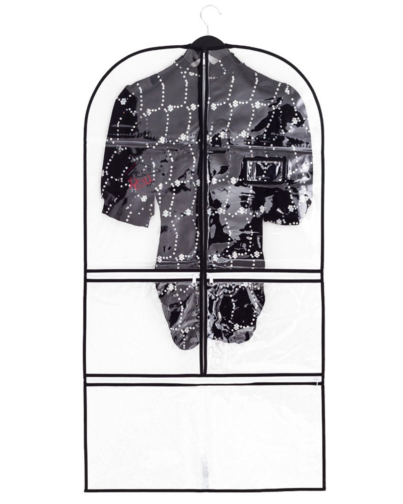 Rac n Roll Full Length Clear Vinyl/Woven Garment Bag With Pockets - Accessories - Dance Bags - Dancewear Centre Canada